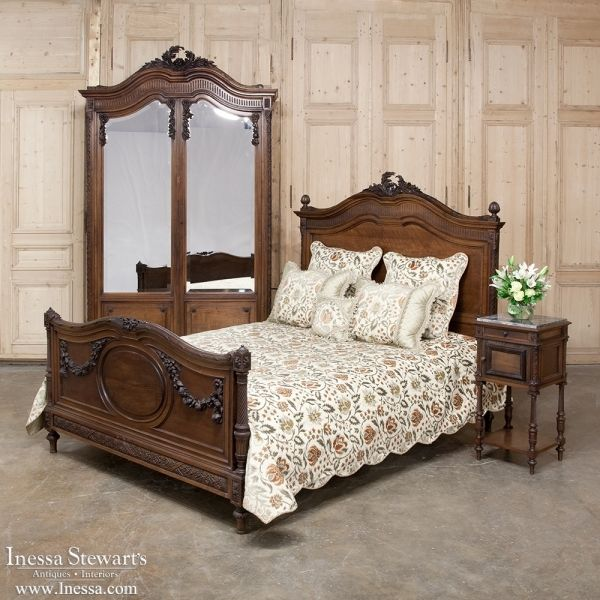 19th Century French Walnut Neoclasscial Bedroom Set Inessa Stewart S Antiques Furniture French Style Furniture Antique Bedroom Furniture
