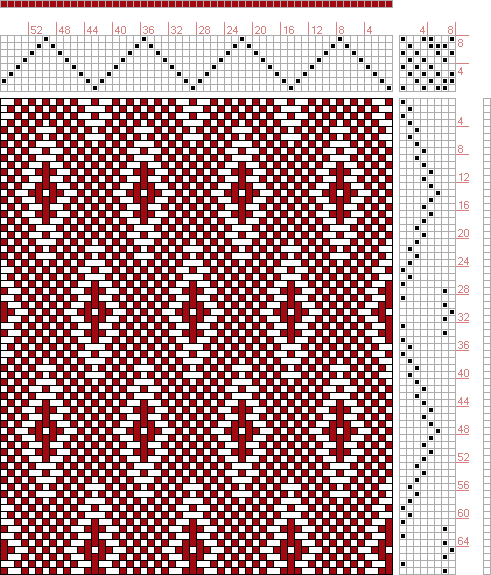 Hand Weaving Draft: Page 127, Figure 14, Donat, Franz Large Book of Textile Patterns, 8S, 8T - Handweaving.net Hand Weaving and Draft Archive