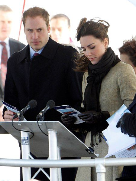 Prince William and Kate Middleton: Lifeboat launch