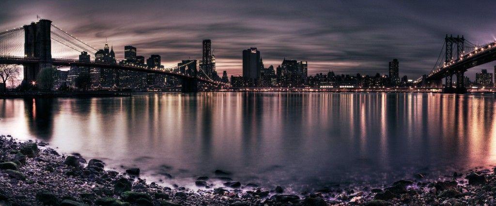 Dual Monitor Widescreen Download Free Dual Monitor Image New York Wallpaper Panorama City City Wallpaper