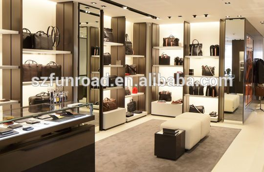 High End Boutique Men's Bag Racks Of Boutique Bag Shop Display  Showcase/modern Shop Counter