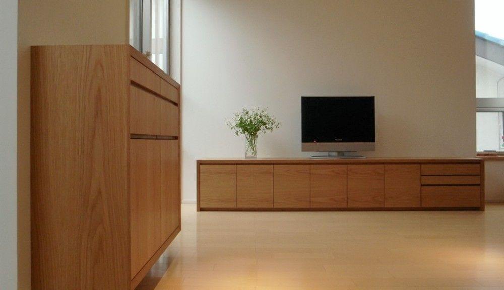 ここで家具が迎えてくれる 注文家具屋 フリーハンドイマイ 家具屋 テレビボード ルーター収納