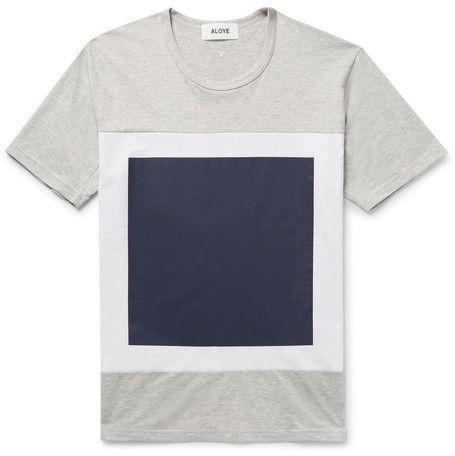 Aloye Printed Mélange Cotton Jersey T Shirt | Tshirt design