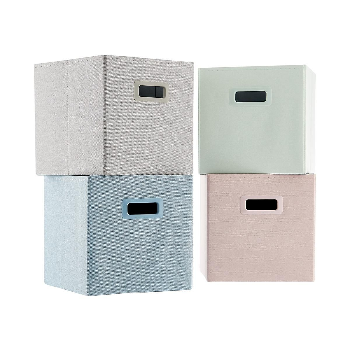 Light Grey Poppin 2x2 Storage Cube Cube Storage Ikea Storage Boxes Fabric Storage Cubes