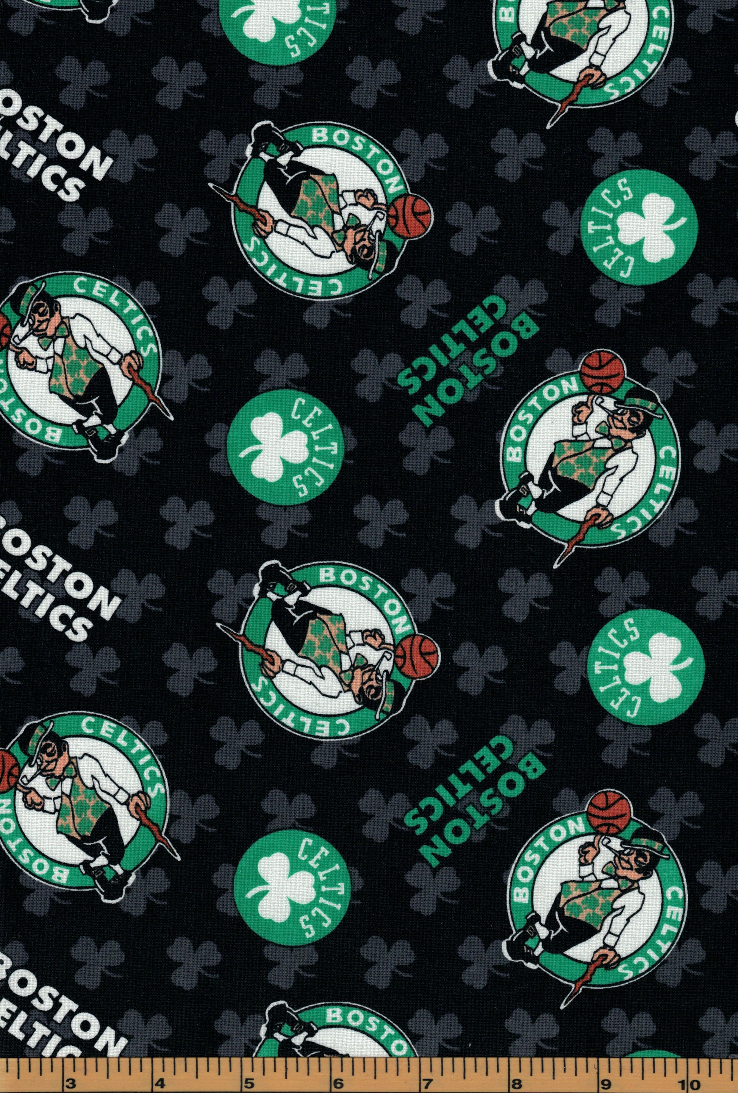 Boston Celtics Basketball Nba Fabric 100 Cotton Sold By The Half Yard Quilts On The Fly Celtics Basketball Boston Celtics Basketball Boston Celtics