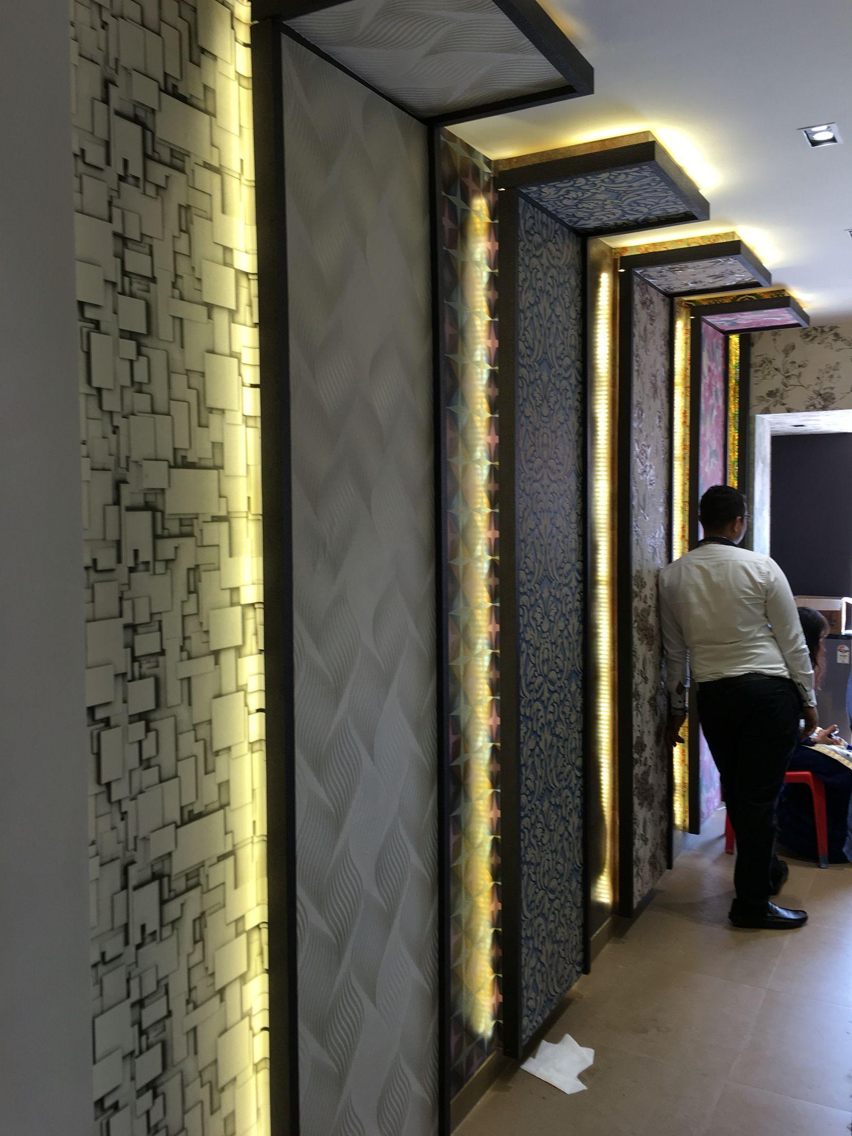 Wallpaper Display Panel Showroom Walldisplay Wallpaper Display Showroom Decor Showroom Interior Design