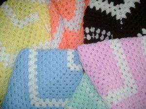 More super simple baby blankets.