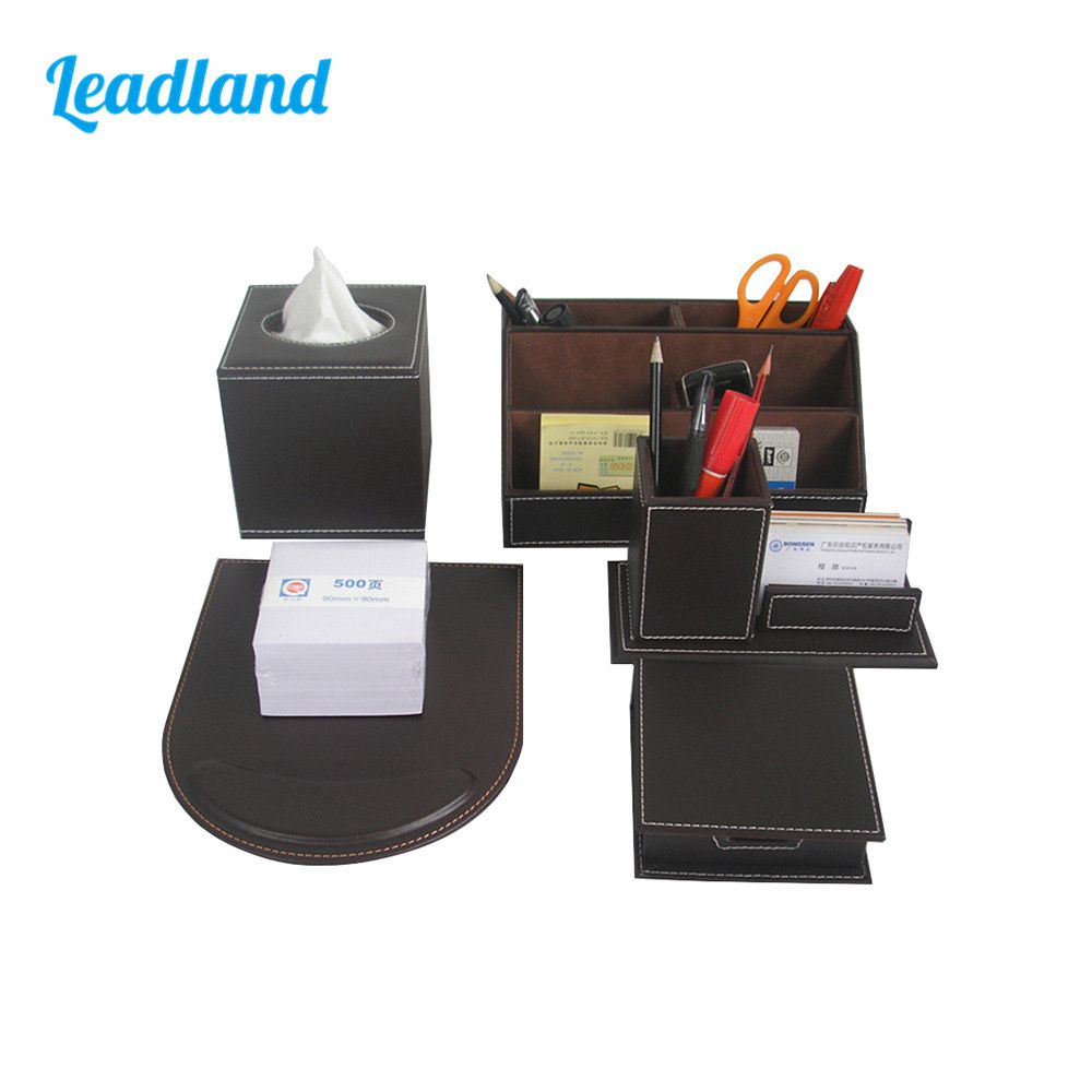 office pen holder. Office Desktop Organizer Pen Holder Memo Box Mouse Pad Business Card Stand Display Stationery Desk Set C