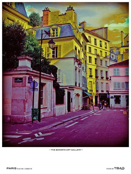 Rue de l'Abbaye, Paris, by The Baker's Art Gallery