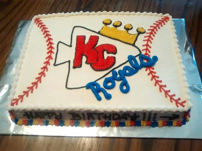 Wondrous Kc Chiefs Royals Birthday Cake With Images Royal Cakes Cake Funny Birthday Cards Online Overcheapnameinfo