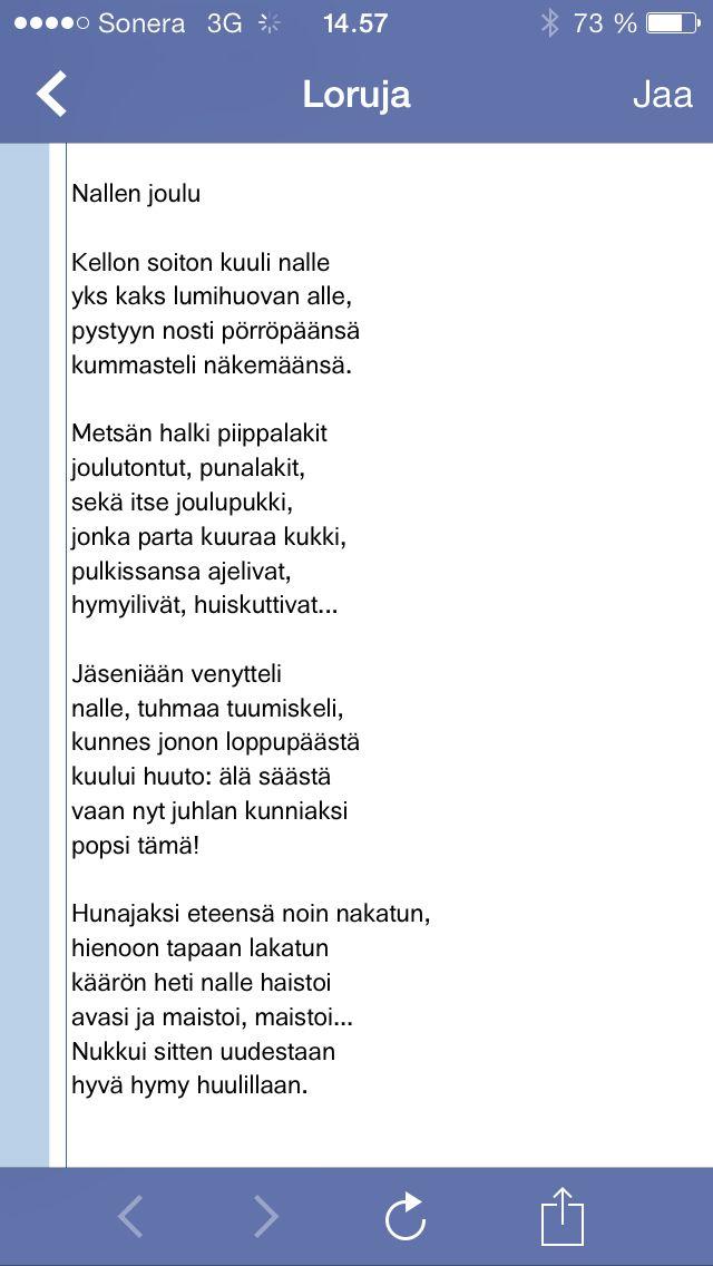 Netistä poimittuja runoja