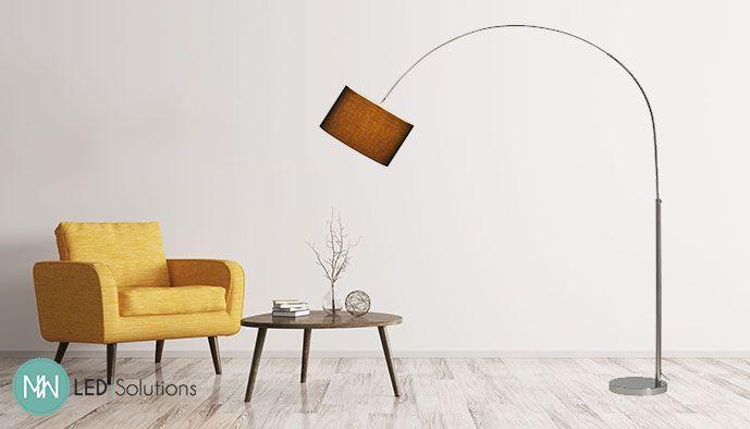Soprana bow sl gebogen staande lamp a lampenkap zwart max