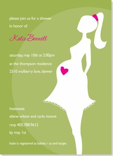 Image detail for Baby Shower Invitations Cute Pregnant Mommy Baby