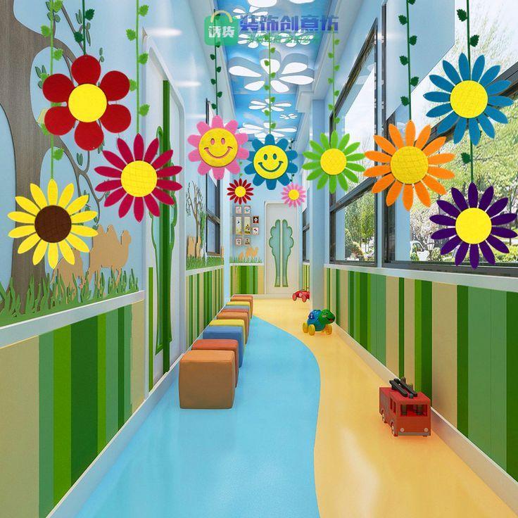 商场小学幼儿园装饰挂饰教室用品走廊环境布置双面大太阳  erika l  dekoration