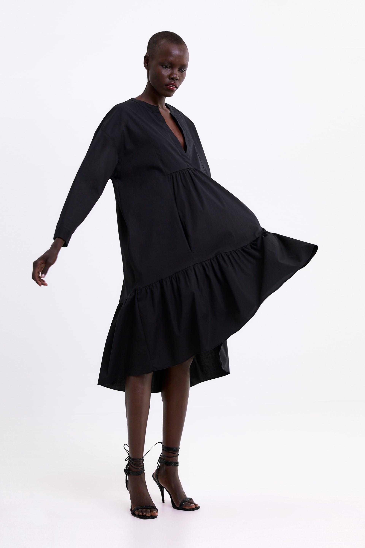 zara - woman - long poplin dress | verano, kleider für frauen