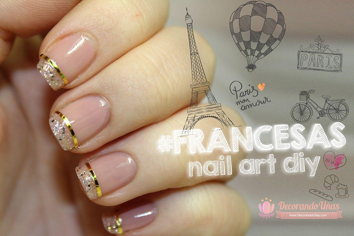 Uñas francesas elegantes, ideal para fiestas - http://xn ...