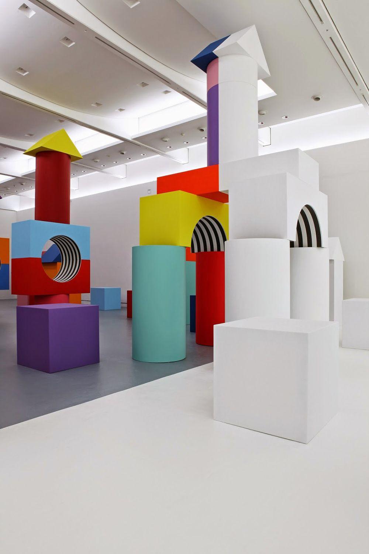 Child's Play: Daniel Buren's Blocky Art Installation Debuts at MADRE Museum #artinstallation