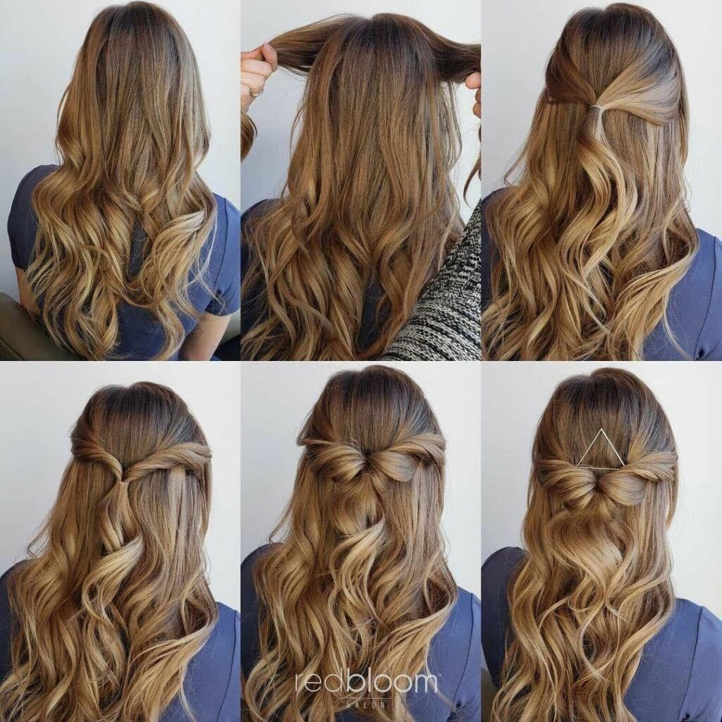 10 Easy Hairstyles For Long Hair To Do At Home Step By Step Hey Cinderella Easy Hairstyles Medium Hair Styles Hair Styles