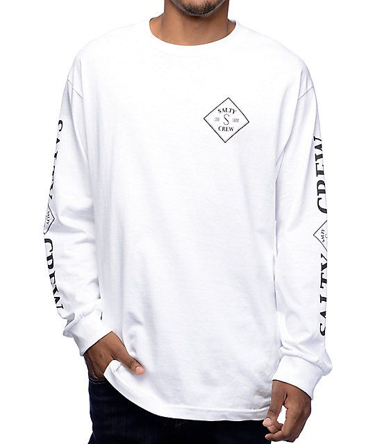 cheaper 08341 4b1dd Get onboard with the crisp trend and thrill seeking style of the Tippet  white long sleeve