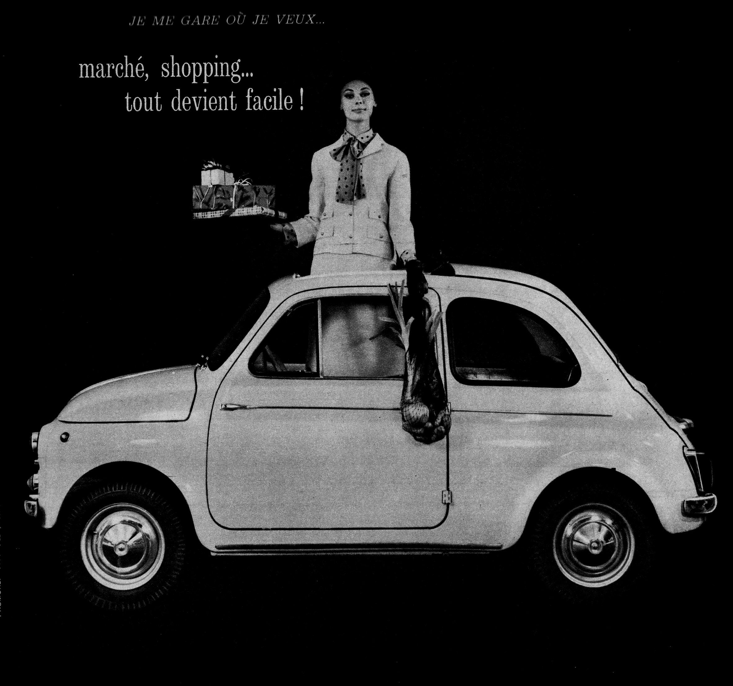 Great French Advertisement From The 60 S For A Fiat Bambino 500