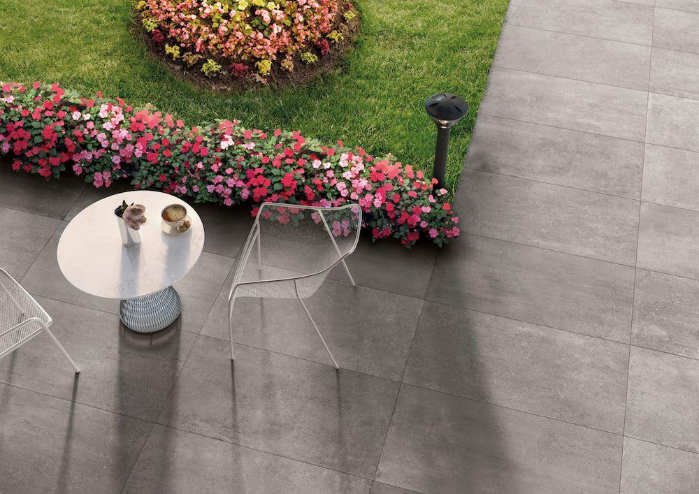 Dalles 2 Cm Exterieur Effet Beton 50x100 Grey Fusion Grip Rectifie