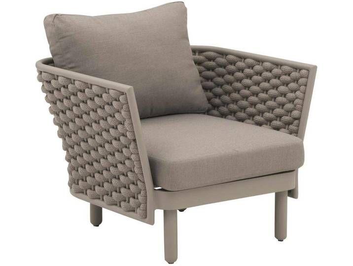 Outliv Leon Loungesessel Aluminium Rope Olefin Grau Beige Chair