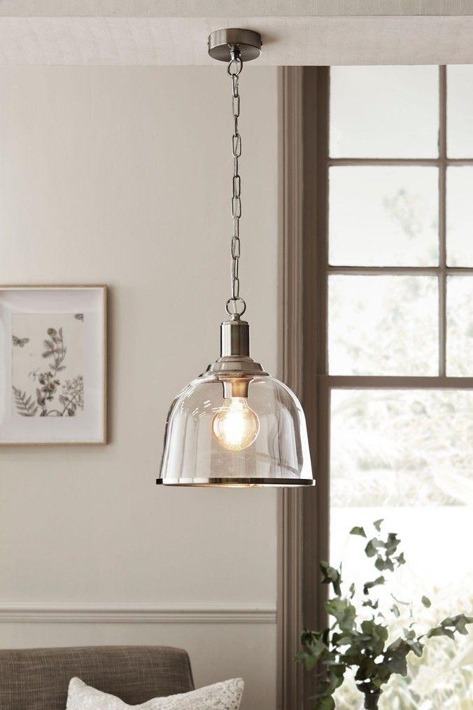 Next Gloucester Pendant Clear In 2020 Glass Pendant Lights Uk Kitchen Pendant Lights Uk Ceiling Pendant Lights
