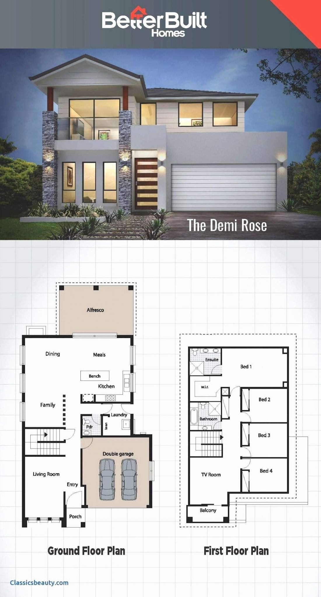 4 Bedroom Maisonette House Plans Kenya House Plans Farmhouse House Blueprints Dream House Plans