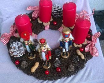 Advent Kranz Urlaub Kranz Weihnachtskerze von CadeauDeLaNature
