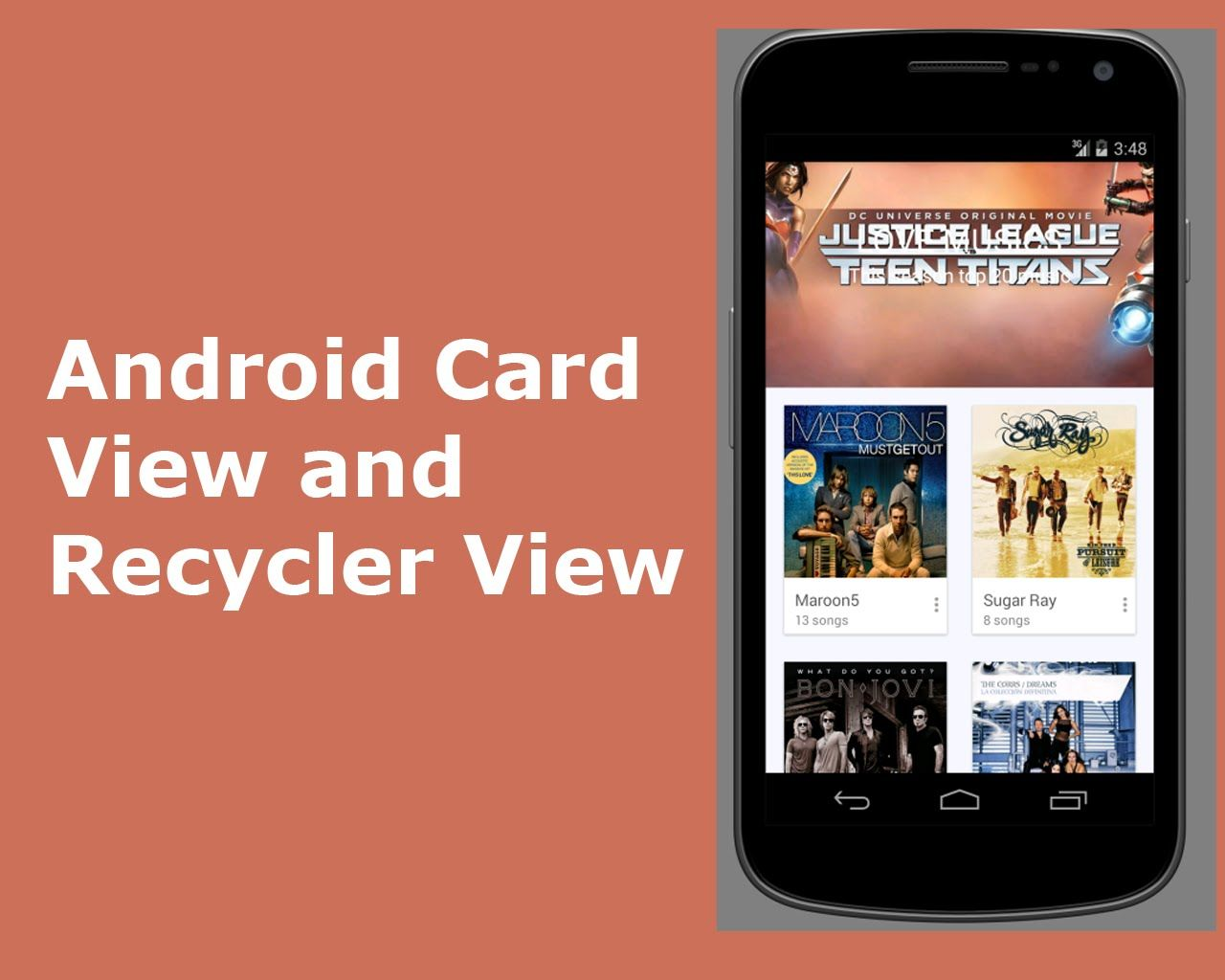 Android Card View and Recycler View | Delaroy Studios