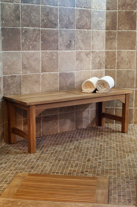 Merveilleux Waterproof Teak Backless Bench 4FT | Pinterest | Shower Benches, Teak And  Joinery