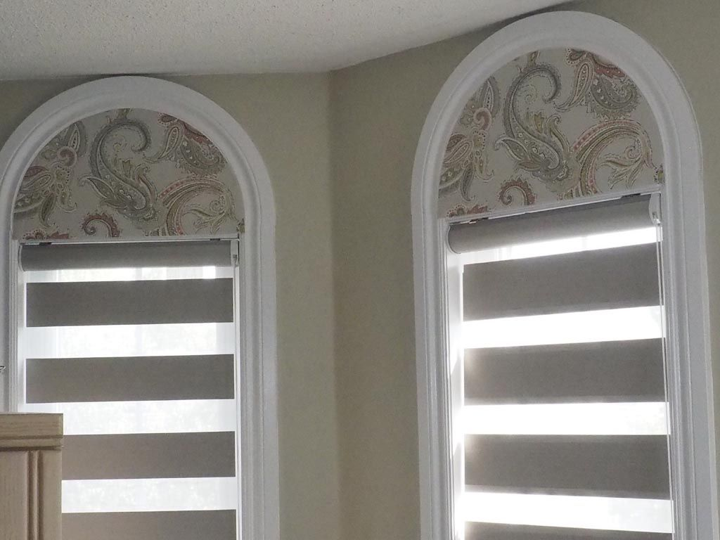 Arch Window Shades Blinds With Images Arched Window