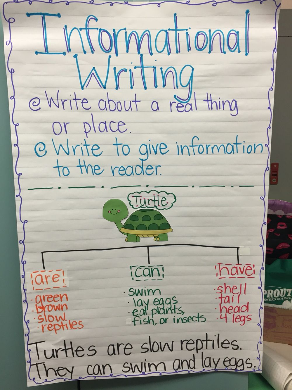 Informational Writing Sustainable Print For Kindergarten Anchor Charts