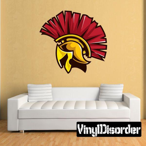 trojan mascot wall decal - vinyl car sticker - 5 | full color decals