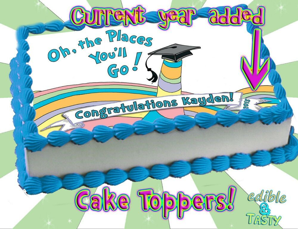 Icing Wafer Cupcake Pre-Cut Toppers Graduation Congratulations Class of 2019