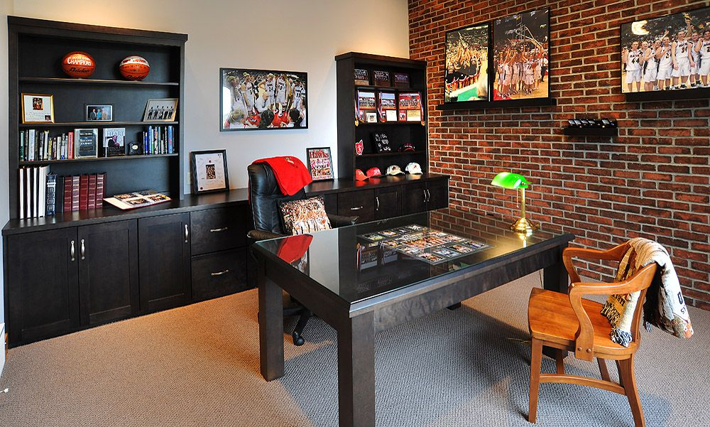 Elegant For The Sports Fan... Home Office Space