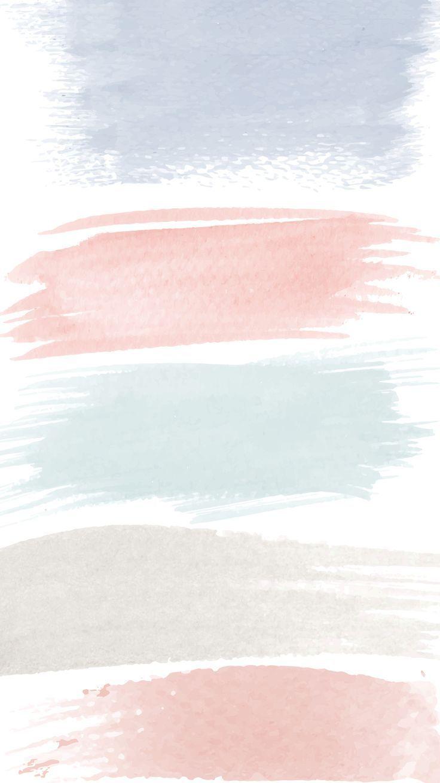 Phone screensaver, iPhone wallpaper, paintbrush strokes
