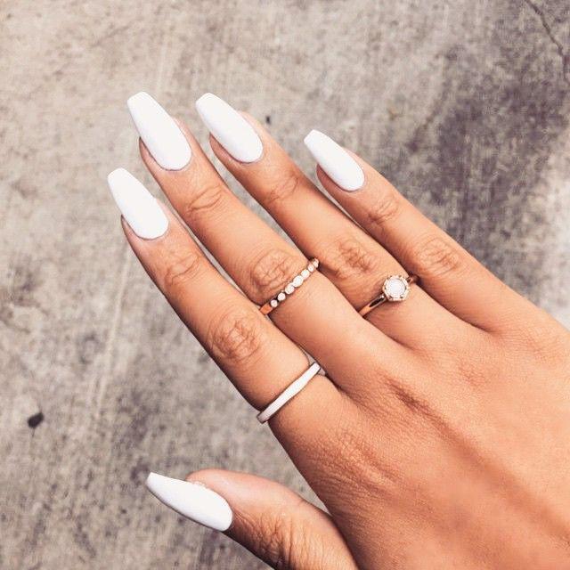 Finally Shiny Pinterest Finallyshinyhoe New Pins Everyday White Acrylic Nails Long Nails Fake Nails