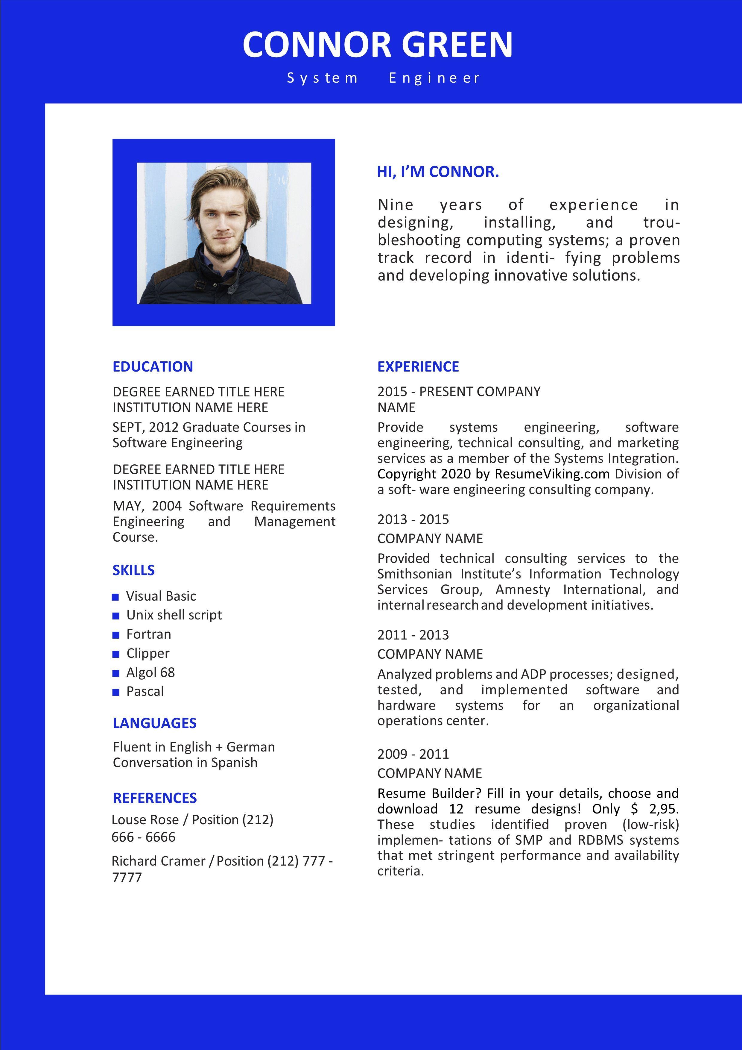 Free Ms Word Resume Template Free Resume Template Word Resume Template Free Resume Template