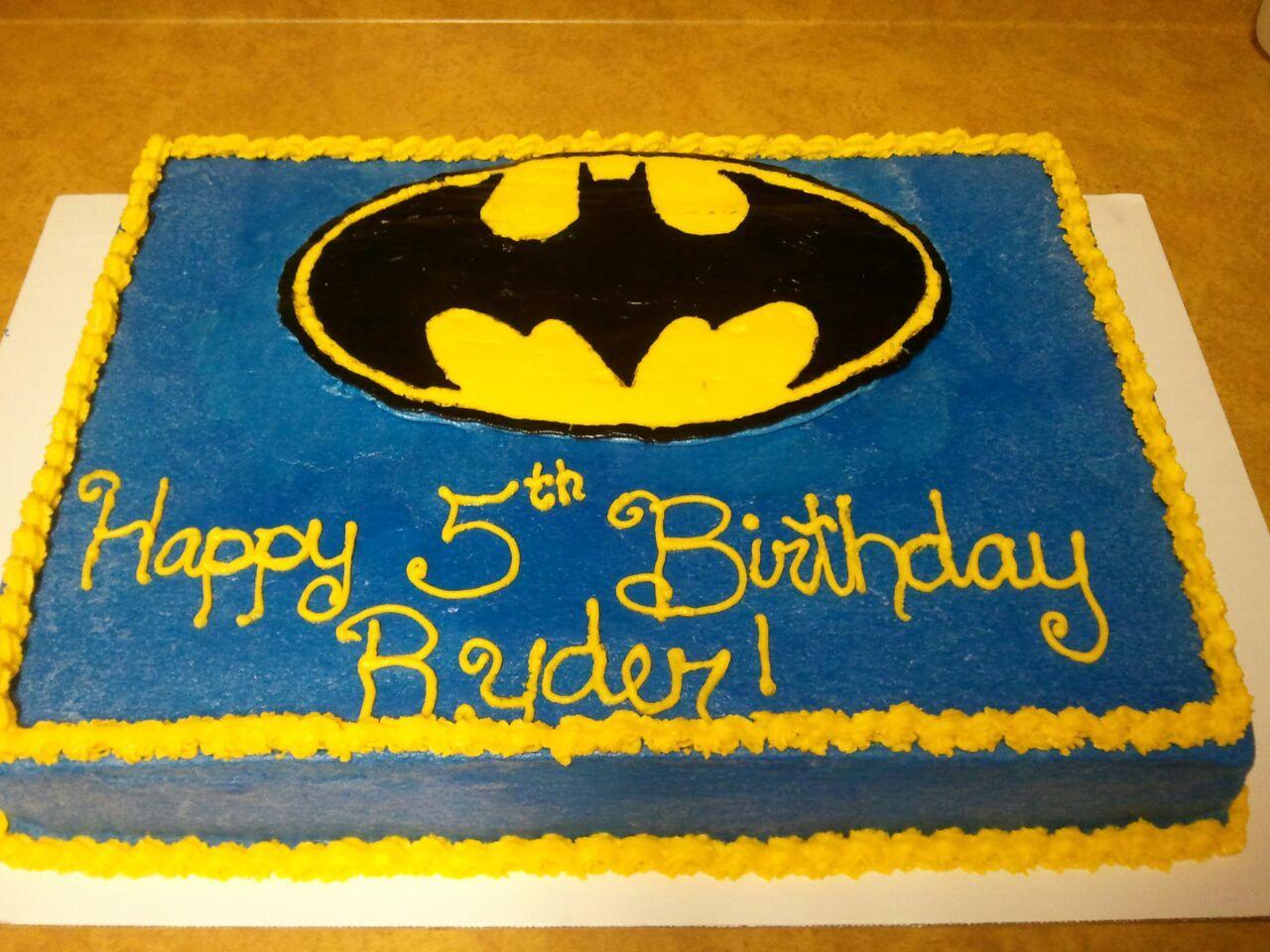 Batman Birthday Cake Decorated cakes Pinterest Batman