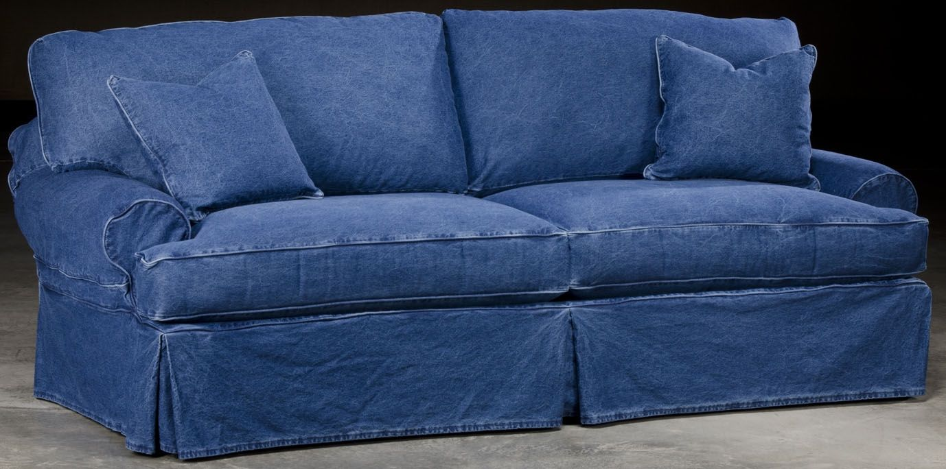 Slip Cover Denim Style Sofa Blue Couch Covers