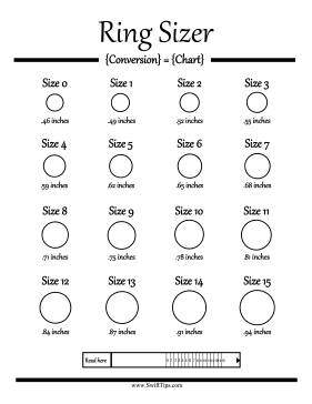 graphic about Free Printable Ring Sizer referred to as Ring dimensions in between sizing 0 and measurement 15 can be resolved with