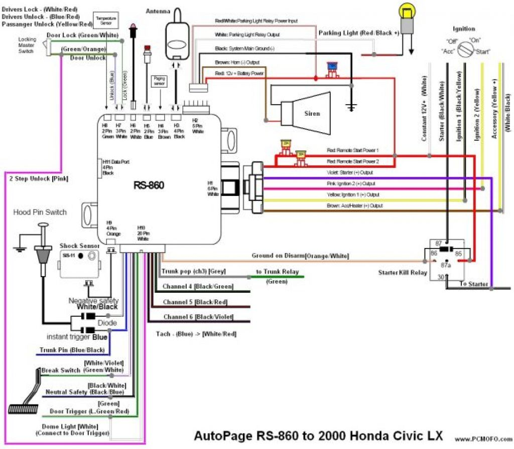 Wiring Diagram Of Motorcycle Alarm System Parking