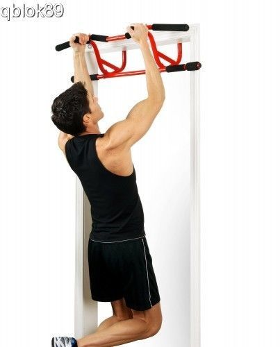 Pull Up Bar Door Chin Up Doorway Exercise Workout Station Elevated Mounted Steel  sc 1 st  Pinterest & Pull Up Bar Door Chin Up Doorway Exercise Workout Station Elevated ...