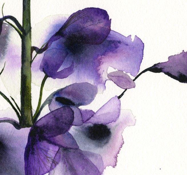 Delphinium Botanical Print Watercolor Botanical
