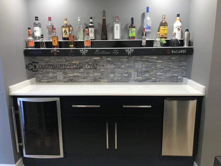 Led Lighted Liquor Shelves Illuminated Home Bar Displays 2 Tiers Bar Displays Liquor Shelf Bar Shelves