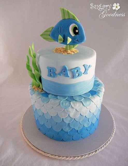 amazing baby shower cakes images Amazing Cakes Fish Themed Baby