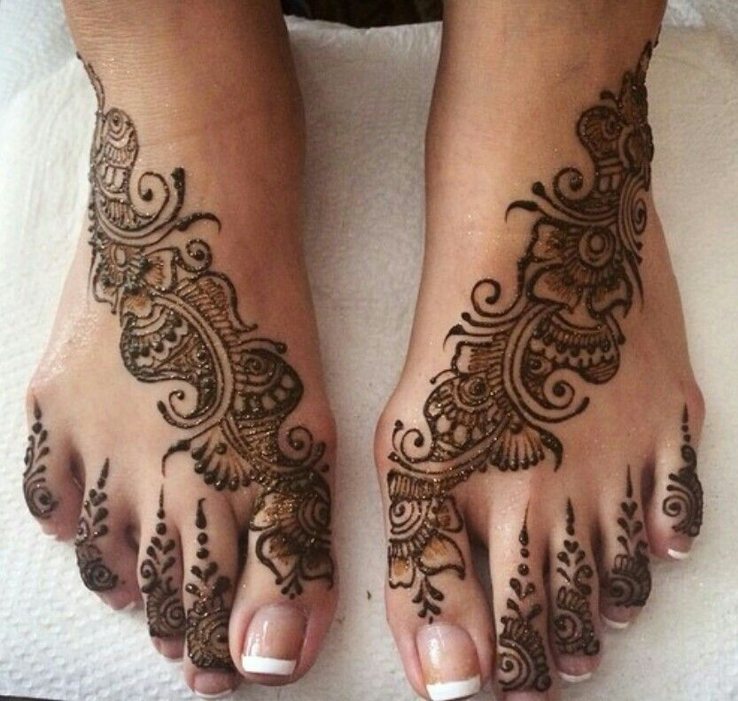 Simple Mehndi On Feet : Beautiful henna design pinterest