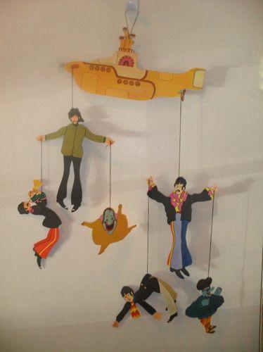 Beatles Yellow Submarine Hanging Mobile New Beatles Baby Shower The Beatles Yellow Submarine