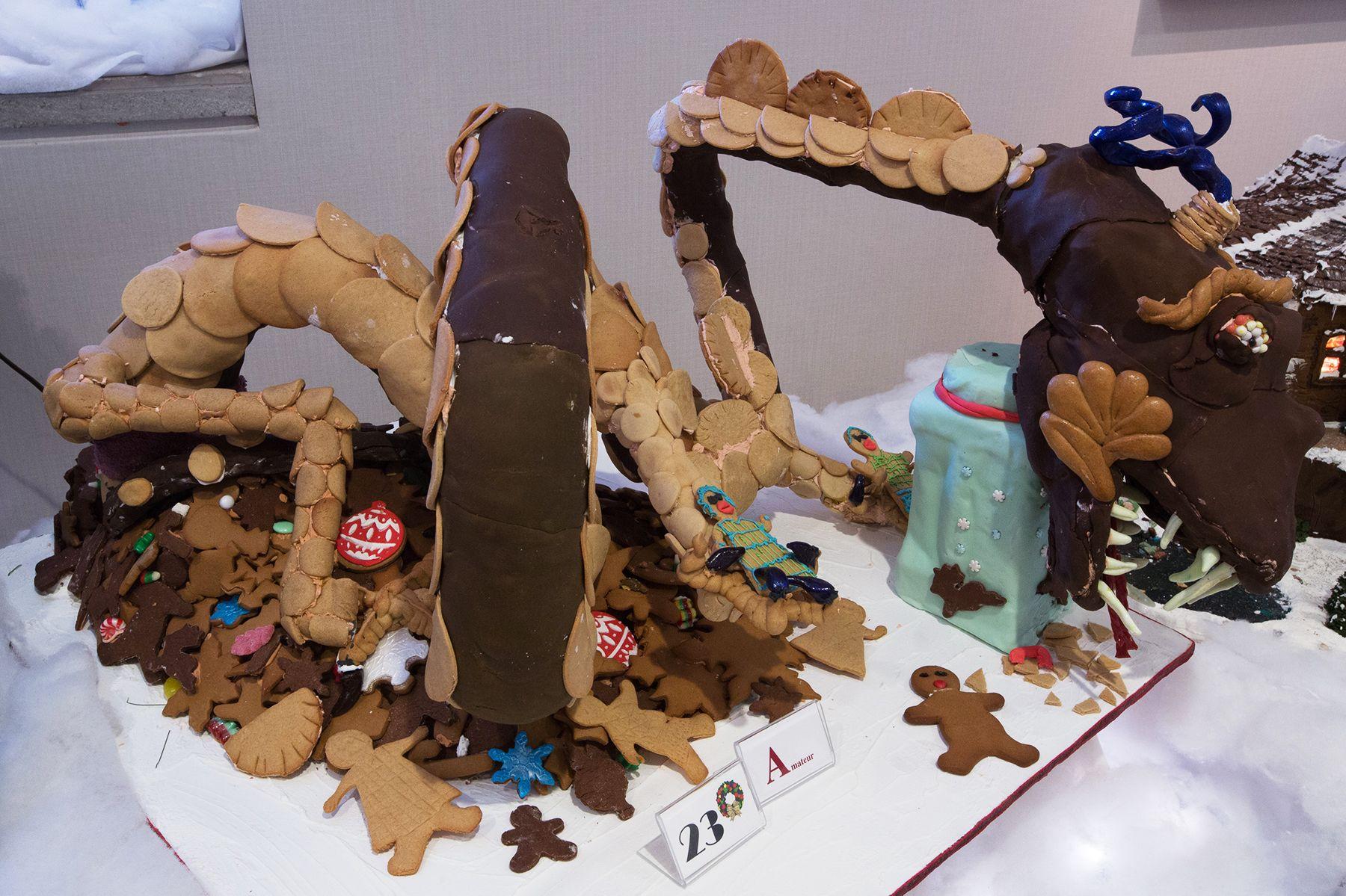 Gingerbread Lane 2014 Hyatt Regency Vancouver Gingerbread Cake Birthday Cake
